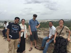 My travel companions at the Golconda Fort